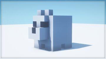 Polar Bear Statue | Schematic Minecraft Map & Project