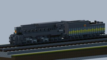 Pennsy Railroad T1 steam locomotive [With download] Minecraft Map & Project