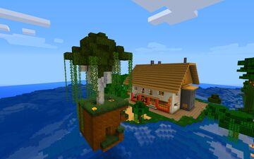 3x5x5 simple Hidden Tree Door Minecraft Map & Project