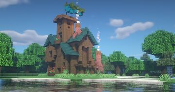 Fantasy/Medieval House (How to build) Minecraft Map & Project