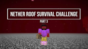 Minecraft Survival but on the Roof of the Nether 20w08a building a pigman farm Minecraft Map & Project