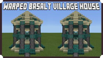 How To Build A Warped Basalt Village - House Minecraft Map & Project