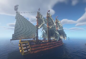 HMS Atropos - 3 Deck Ship of the line Minecraft Map & Project