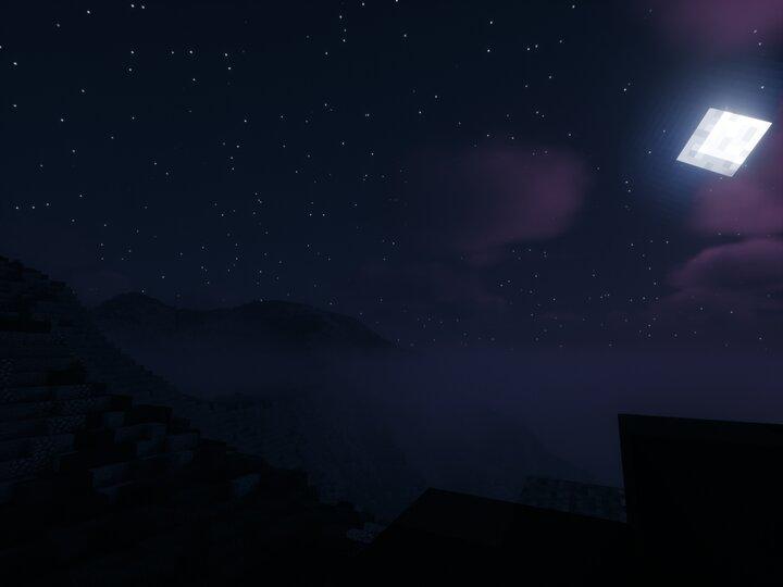 night mountain view