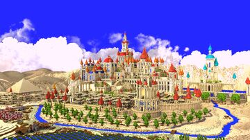 Arabic Castle Hub [ 768x768 ] !! Minecraft Map & Project