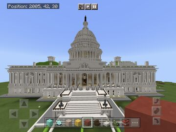 US Capitol Building (central core, no House or Senate Wings) Minecraft Map & Project