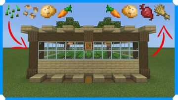 How To Build An Automatic Crop Farm [Minecraft Bedrock Edition] Minecraft Map & Project
