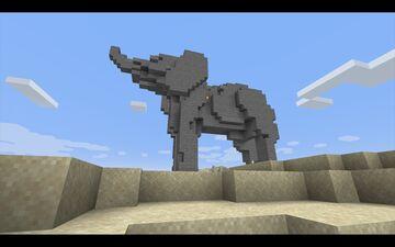Elephant 3d survival build Minecraft Map & Project