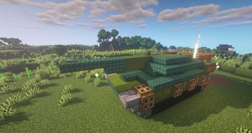 Minecraft: Tank House (How to build) Minecraft Map & Project