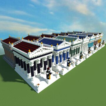 Roman Temple Building Pack Minecraft Map & Project