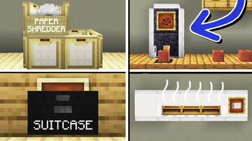 10 Office Furniture Designs (No commands) (Part II) Minecraft Map & Project