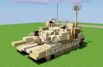 (2:1 Scale Main Battle Tank) M1A2 Abrams SEP V3 Minecraft Map & Project