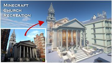 I recreated this london church in minecraft Minecraft Map & Project