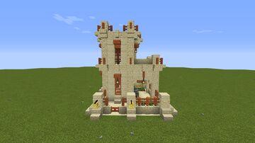 Desert Survival Base Minecraft Map & Project