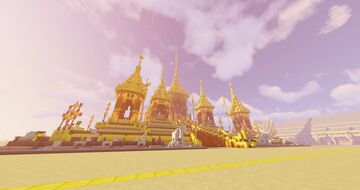 พระเมรุมาศพระบาทสมเด็จพระมหาภูมิพลอดุลยเดชมหาราช บรมนาถบพิตร [Royal Crematorium (Thailand)] Minecraft Map & Project