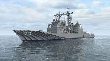 USS Port Royal CG-73 - 1:1 Minecraft Map & Project