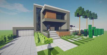 Modern House #54 + Schematics Minecraft Map & Project