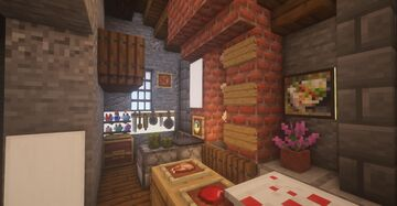 Medieval Kitchen Minecraft Map & Project