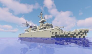 Floréal-class frigate - French Navy (1:1 scale) Minecraft Map & Project