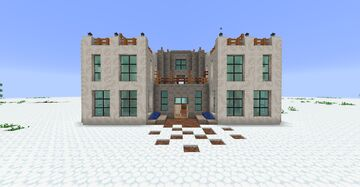 Symmetrical Modern House (SMH) Minecraft Map & Project