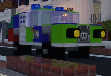 British Mercedes Police Cruiser (United Kingdom) Minecraft Map & Project