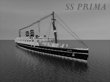 British Steamship SS. Prima Minecraft Map & Project