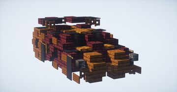 DARK KNIGHT: Tumbler (Batmobile) (2:1 Scale) Minecraft Map & Project