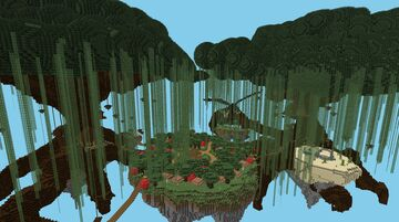 Giant Trees with Island Spawn schematic Minecraft Map & Project