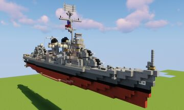 (1:1 Scale Destroyer) USS Fletcher DD-445 Minecraft Map & Project
