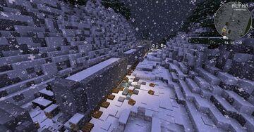 snowy railroad Minecraft Map & Project