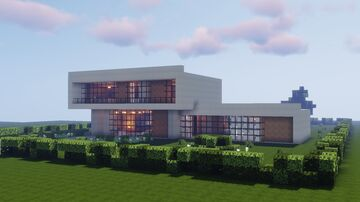 Modern (New Brutalist) House 1 Minecraft Map & Project