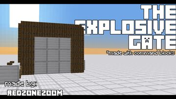 the explosive gate! Minecraft Map & Project