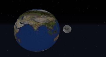 The Scale of the Earth and Moon 1.16 Minecraft Map & Project