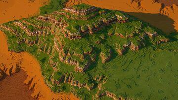 1000x1000 Mesa Plateau Terrain Minecraft Map & Project