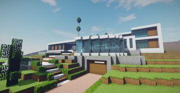Beverly Hills Modern Mansion Minecraft Map & Project