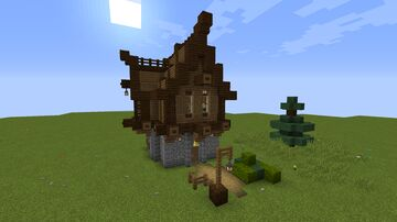 Large Medieval Townhouse Minecraft Map & Project