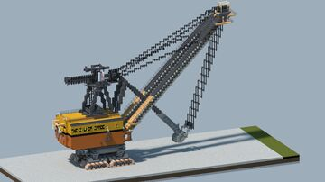 "Bucyrus-Erie 1950-B ""The Silver Spade"" mining shovel [With Download] Minecraft Map & Project"