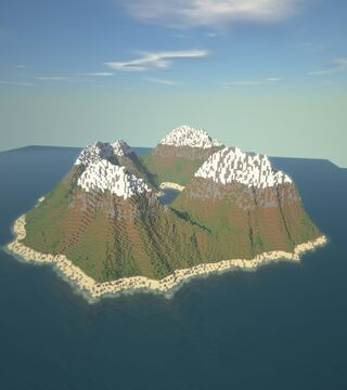 Custom Map (mountains Surrounding A Lake) Minecraft Map & Project