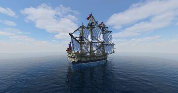 HMS Montego | Fictional British Indiaman (ShipSide) Minecraft Map & Project