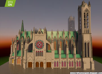 Minecrafteate in RTX, Nº13: Gotic Resurection Cathedral, by Alberto Santamarina Saez Minecraft Map & Project