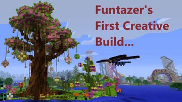"Funtazer's First Minecraft Creative Build: ""Townia""! Minecraft Map & Project"