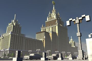 Stalin's skyscraper / Fictional art deco skyscraper Minecraft Map & Project