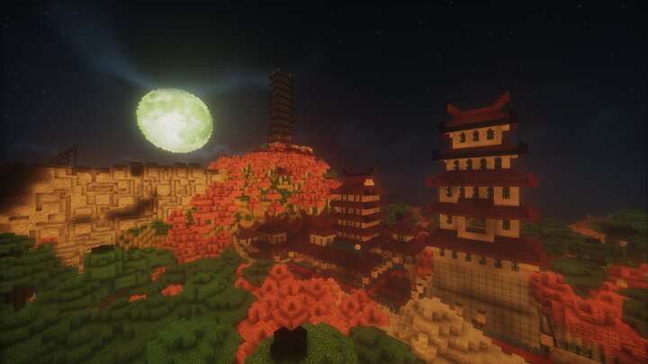 The moon rising. I am dealing with a lot of lighting issues caused by the transfer from PE to PC that I am trying to fix.