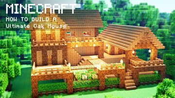 Minecraft: How To Build a Ultimate Oak Survival Farm House Minecraft Map & Project