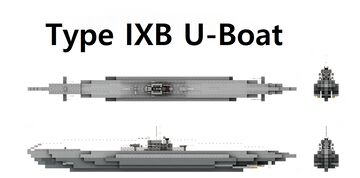 Type IXB U-Boat 1:1 Scale Minecraft Map & Project