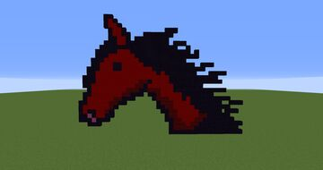 Red/Purple horse Minecraft Map & Project