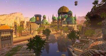 Arabian Buildings In Moon Map Minecraft Map & Project
