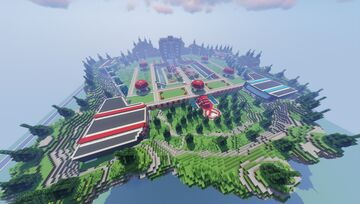 SnowyB Pixelmon BattleFrontier Spawn- Gym - City - Town - Completed Commission by MagmaTeam Minecraft Map & Project