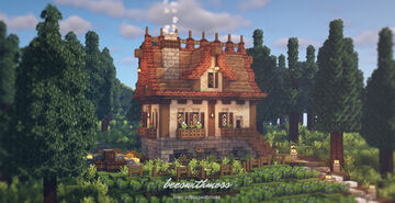 A cozy and bright seasonal cottage 🍂🌲🥧 Minecraft Map & Project