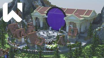 Medieval Village ❯ Hub ❯ 300x300 Minecraft Map & Project